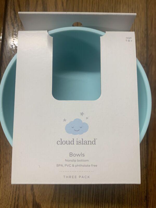 3 Pack Cloud Island Nonslip Toddler Baby Snack Bowls , BPA PVC Free
