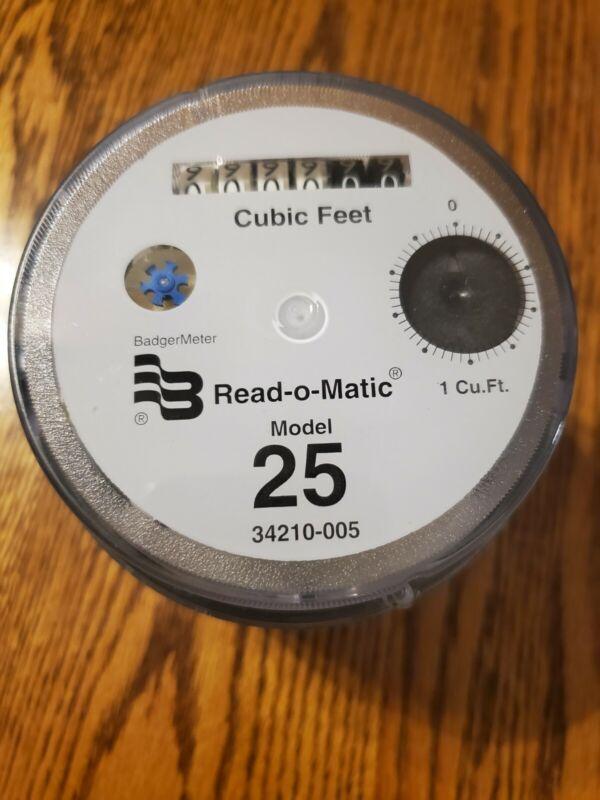 Lot of 10 BADGER MODEL 25 REGISTER READ-O-MATIC WATER METER HEAD 1 CUBIC FEET
