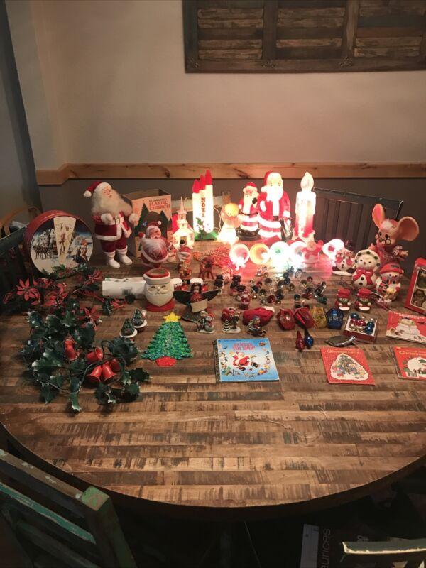 Huge Lot Of Vintage Christmas