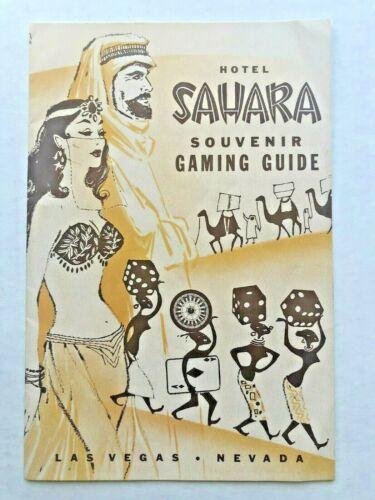 1954 Sahara Hotel Las Vegas Souvenir Gamiing Guide