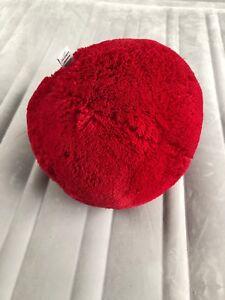 Coussin boule rouge