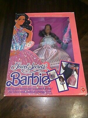 1986 Mattel Barbie Jewel Secrets Black African American Barbie MISB