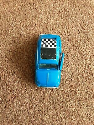 Politoy Fiat 500L NE 23, Vintage made in Italy model in blue with Speedwheels.