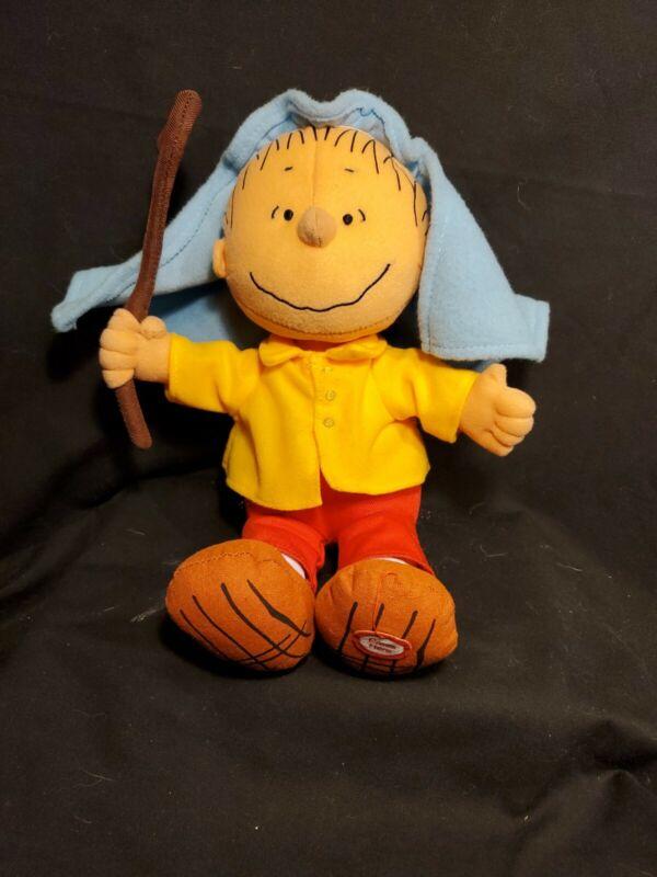 Hallmark Peanuts Linus as Shepherd Talking Plush Christmas Holiday