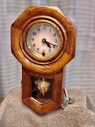 "Regulator Pendulum Chime Oak Wood Wall Clock 12"""