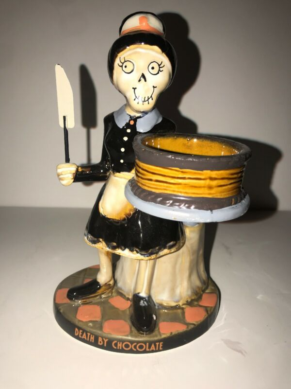 Yankee Candle Boney Bunch DEATH BY CHOCOLATE Tea Light Holder NIB