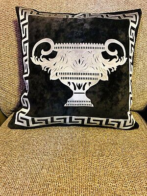 Baroque Cup Greek Key/greek Border/Versace Border Pillow Throw cushion cover