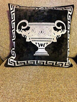 Baroque Cup Greek Key/greek Border/Versace Border Pillow Throw cushion cover