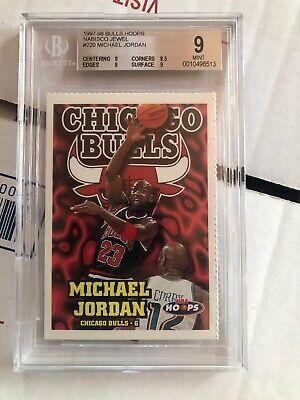 Basketball Cutouts (1997-98 Michael Jordan NBA Hoops Nabisco Jewel Cutout BGS)