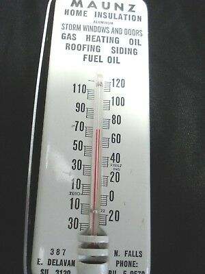 (  Vintage...Metal...Window...Mount..Thermometer....Fuel..Oil..Co..Niagara..Falls)