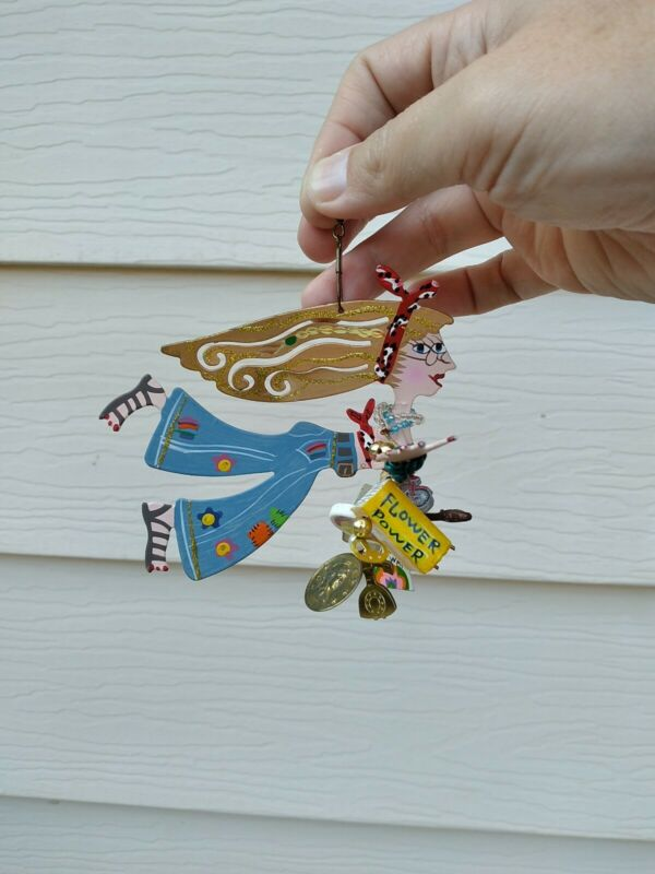 Karen Rossi Silvestri Fanciful Flights Ornaments HIPPY GIRL 2000, Hippie