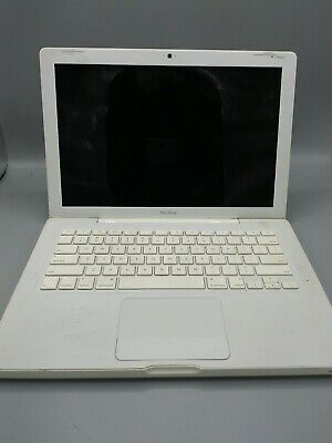 White Apple MacBook Laptop without Charger in Working Condition, Sold As-Is