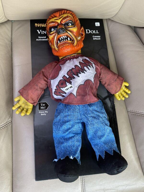spirit halloween Wolfman doll RARE HTF