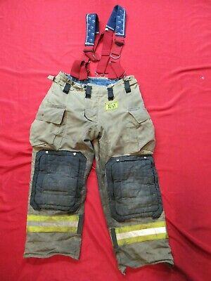 Mfg 2010 Morning Pride Fire Fighter Turnout Pants 36 X 29 Bunker Gear Suspenders