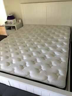 Queen size Mattress and Frame near new. Pick up only