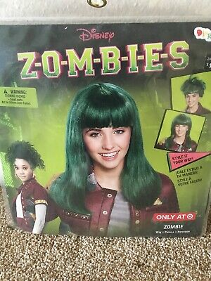 Disney Zombies Zombie Green Wig Hair Halloween Dress Up Costume New!](Halloween Disney Princess Dress Up Games)