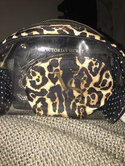 VS Leopard Cosmetic Bag Trio