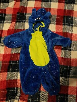 Baby Boy Blue/Green Monster Halloween Costume Size 6/9 Months worn Once!