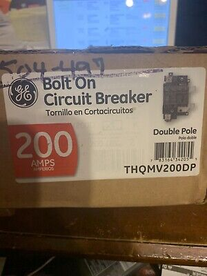 Brand New Ge Thqmv200dp Main Circuit Breaker 200 Amp Bolt On Gold