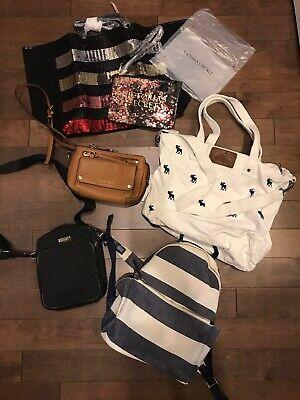 Huge Lots Of 6 Bags, Coach, Tommy, Michael Kors, VIctoria's Secret,Abercrombie,