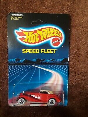 1:64 HOT WHEELS 1986 SPEED FLEET RED MERCEDES 540 K