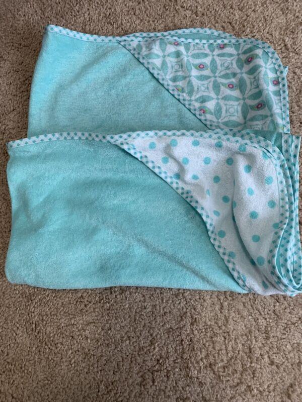baby girl hooded towel