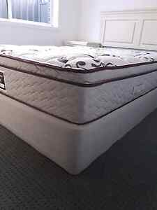 Queen double base mattress, bed head and side tables Horsley Wollongong Area Preview