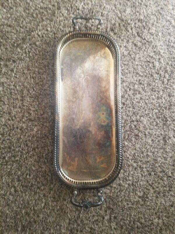 Vintage Sheridan Large Footed Butler Serving Tray 20.5 by 9