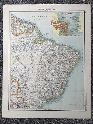 "Retro ""South America - Section 2"" Map (35 X 45cm)"