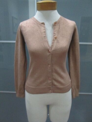 Chloe Long Sleeve Bronze Cotton Blend Cardigan Sweater Girls Size 12