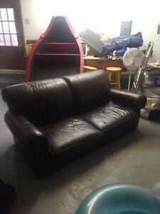 Causeuse divan cuir veritable