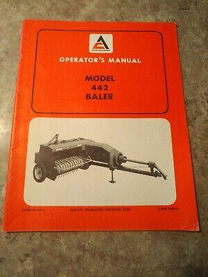 Allis Chalmers 442 Baler Original Operators Manual