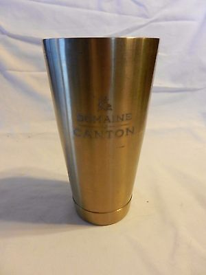 Domaine de Canton French Ginger Liqueur Gold Metal Shaker Tin with Logo