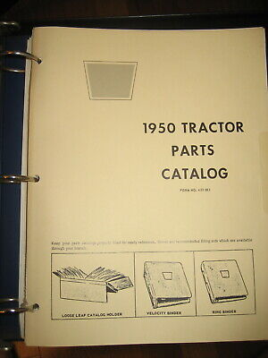 Oliver 1950 Tractor Parts Manual Book Catalog