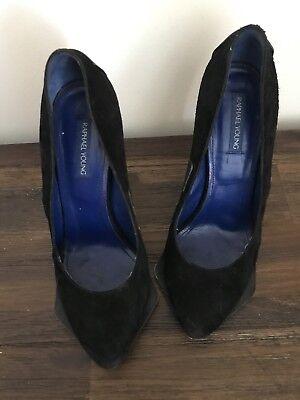 Raphael Young Black Suede Heel Shoes