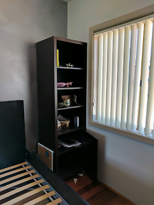 Slim Tall Dark Brown Bookshelf with cabinet Canley Heights Fairfield Area Preview