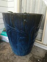 2 times oversized blue pots with plants Charlestown Lake Macquarie Area Preview