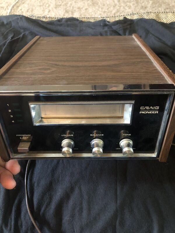 Craig Pioneer 3205 Vintage 8 Track Player WORKS