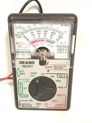 Vintage Sears Analog Multimeter Model 9-82401 Tested