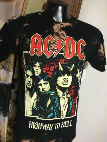 NWT new AC/DC tie dye black T SHIRT mens 3XL retro HIGHWAY TO HELL Angus concert