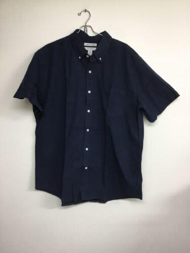 Amazon essentials men's Short Sleeve Button Up Shirt, XL,