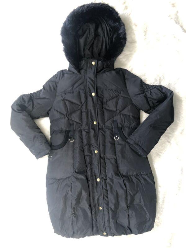 Kimi and Kai Maternity Down Parka Minnie Black Puffer Winter Coat Medium M