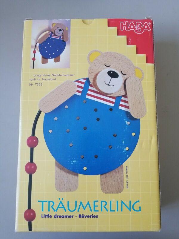 """Haba Traumerling Little Dreamer Wooden Bear Night Light 7522 10"""" Sleepy Bear"""