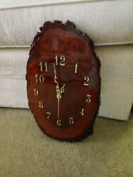 Real Wood Wall Clock Battery Powered