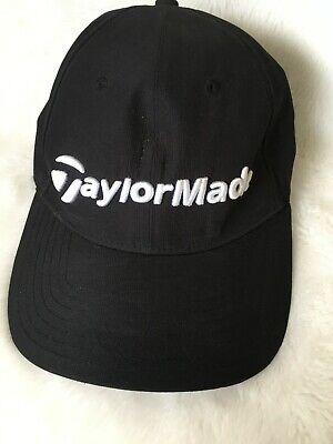 Vintage Trucker Hat Advertising ADJUSTABLE BLACK TAYLORMADE GOLF TAYLOR MADE