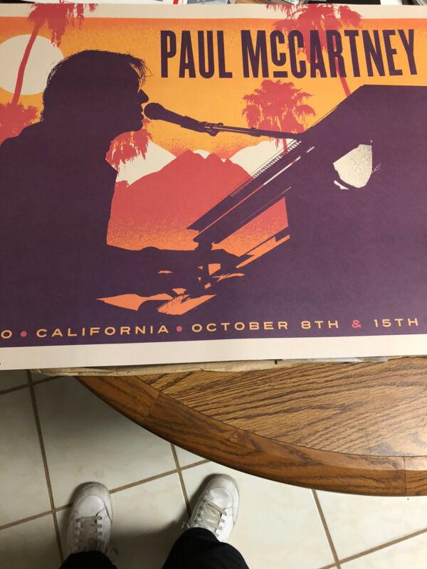 Paul McCartney Concert Poster 2016 Indigi California Desert Festival