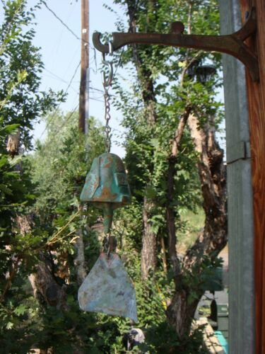 """Arcosanti Soleri 9"""" Bronze Wind Bell - 2"""" Bell - Lovely Patina A Great Gift! NEW"""