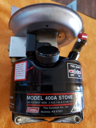 1-Coleman Peak1 Model 400 Vintage 8-1989 Backpack Cook-Stove Collectible USA