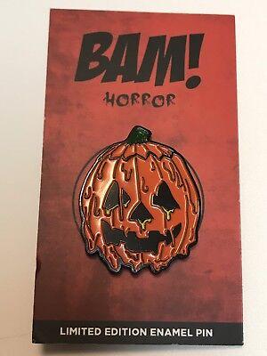 Halloween 3 Season Of The Witch Pumpkin Enamel Art Lapel Pin Horror Movie Mondo