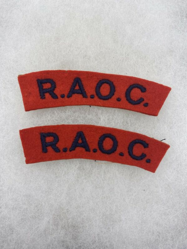 British Royal Army Ordnance Corp Tabs Felt Set (E768